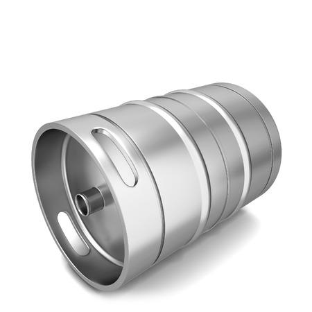 keg: Beer keg. 3d illustration isolated on white background