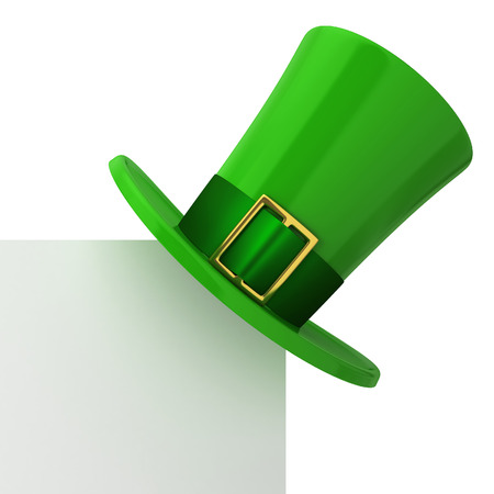 st patricks party: 3d illustration isolated on white background Stock Photo