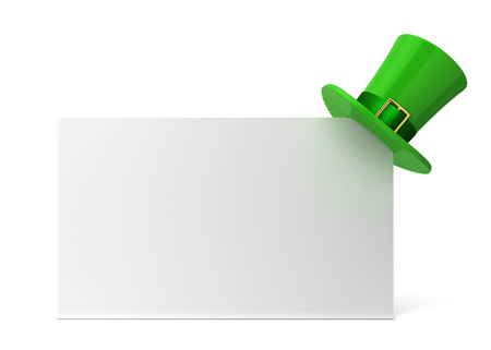 st  patty: 3d illustration isolated on white background Stock Photo