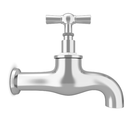Water tap. 3d illustration isolated on white background