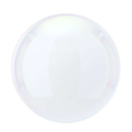 Soap bubble. 3d illustration isolated on white background