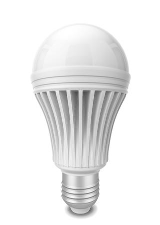 e27: Led bulb. 3d illustration isolated on white background