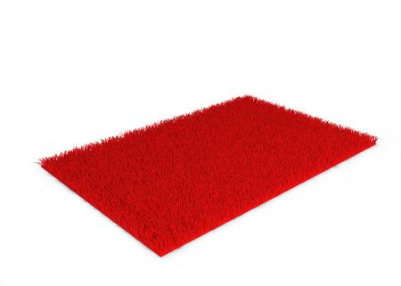 shaggy: Shaggy carpet. 3d illustration isolated on white background Stock Photo