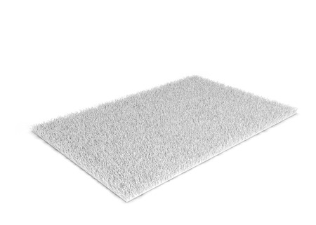 carpet and flooring: Shaggy carpet. 3d illustration isolated on white background Stock Photo