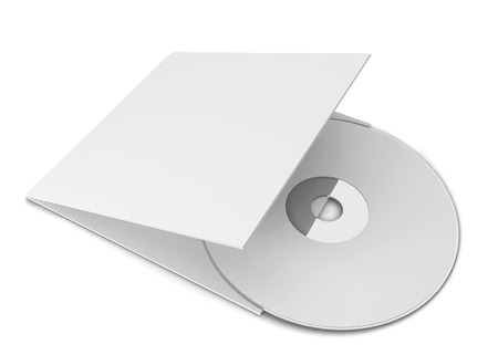 cd label: Blank cd cover. 3d illustration isolated on white background