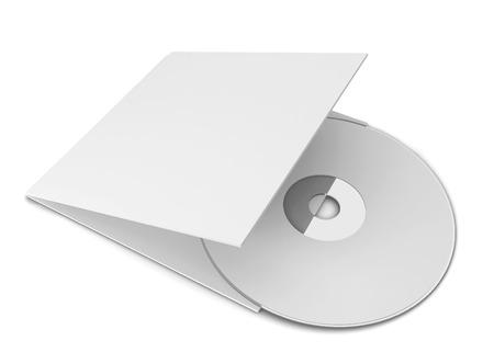 musica electronica: Cubierta de cd en blanco. 3d ilustraci�n aisladas sobre fondo blanco