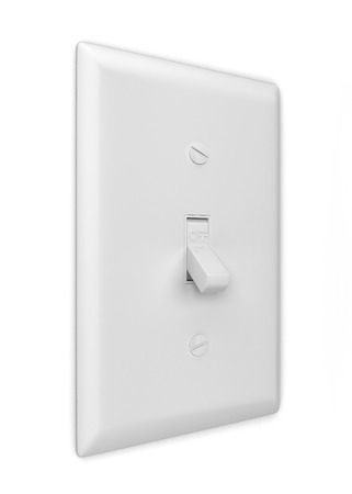 light switch: Light switch. 3d illustration isolated on white background