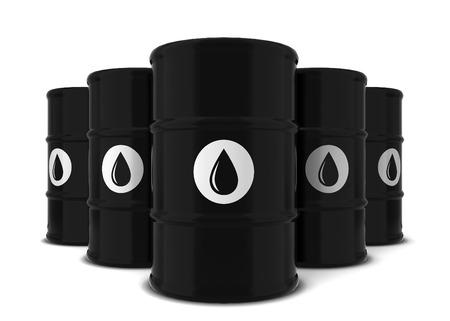 diesel: Barrel of oil. 3d illustration isolated on white background Stock Photo