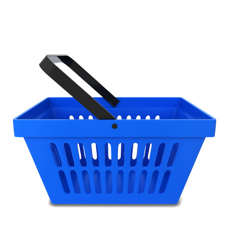 personal shopper: Shopping basket. 3d illustration isolated on white background Stock Photo