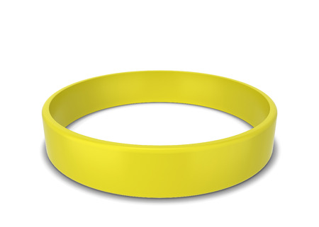 Rubber bracelet. 3d illustration isolated on white background Stock Photo