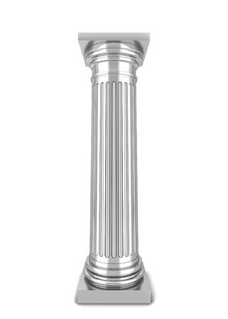 Classical column. 3d illustration isolated on white background illustration