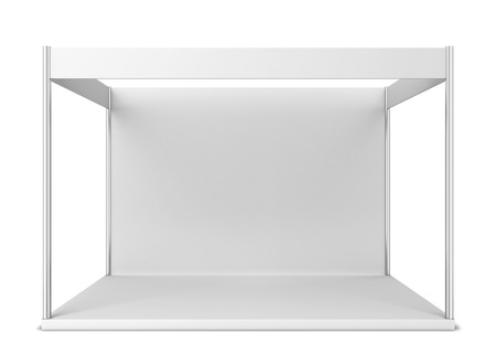 Trade show booth. 3d illustration isolated on white background 写真素材