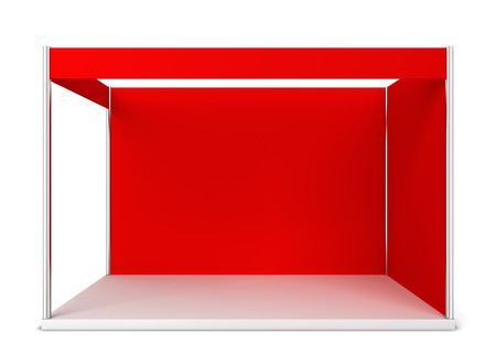 trade show: Trade show booth. 3d illustration isolated on white background Stock Photo