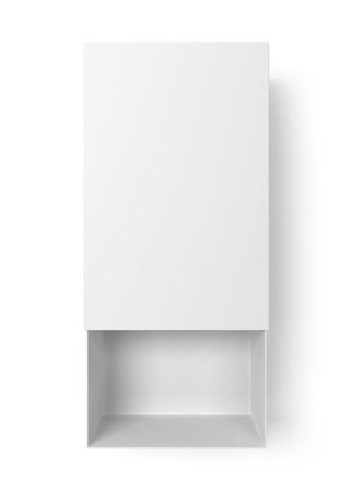 box of matches: Opened box. 3d illustration isolated on white background