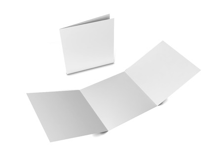 Square brochure. 3d illustration isolated on white background