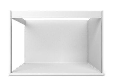 mockup: Trade show booth. 3d illustration isolated on white background Stock Photo