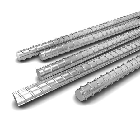 rejas de hierro: Armadura de acero. 3d ilustración aisladas sobre fondo blanco
