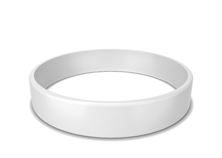 Rubber bracelet. 3d illustration isolated on white background Imagens