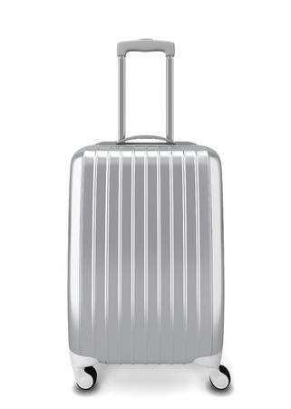 Maleta de plata. 3d ilustración aisladas sobre fondo blanco Foto de archivo - 37653696