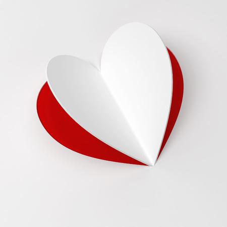 heart 3d: Paper heart. 3d illustration Stock Photo
