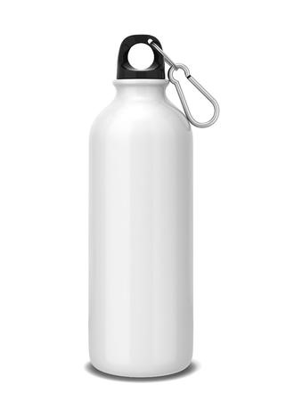 Sport fles. 3D-afbeelding op een witte achtergrond Stockfoto