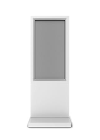 Lcd display stand. 3d illustration isolated on white background