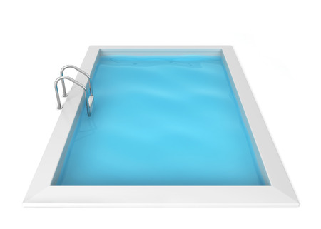 Swimming pool. 3d illustration isolated on white background Reklamní fotografie