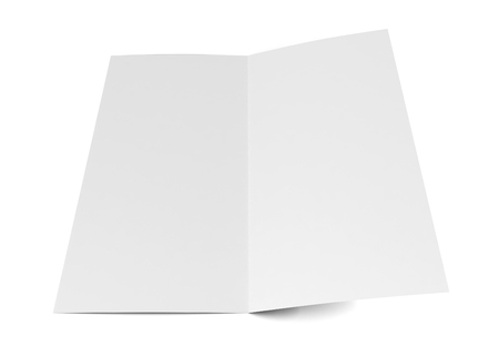 two page spread: Bi-fold brochure. 3d illustration isolated on white background