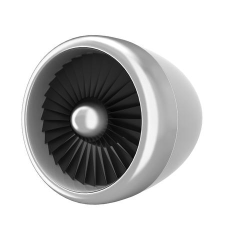 turbina: Jet turbina. 3d ilustración aisladas sobre fondo blanco Foto de archivo