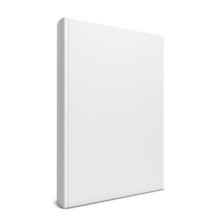 単一の空白の本。白い背景で隔離の 3 d 図