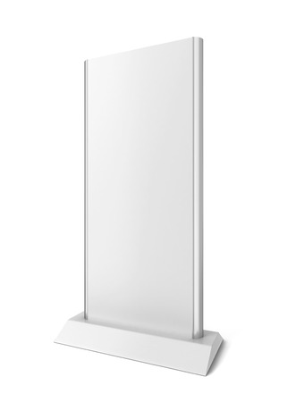 display stand: Lcd display stand. 3d illustration isolated on white background