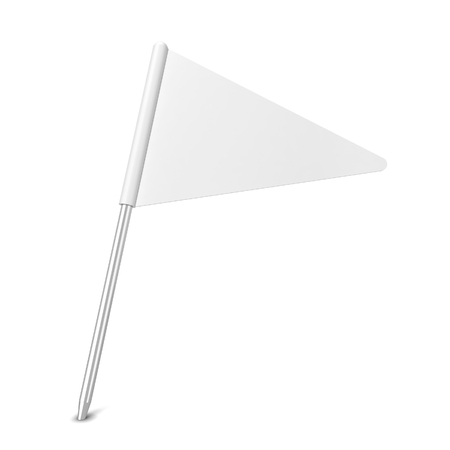 pinning: Pin flag. 3d illustration isolated on white background