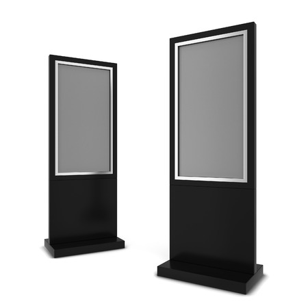 Two lcd displays. 3d illustration isolated on white background Imagens