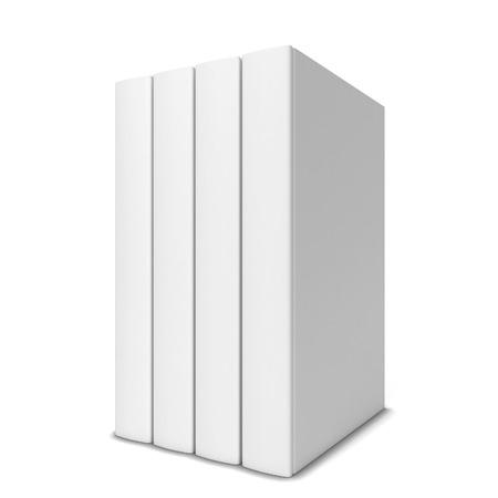 行の 4 冊の本。白い背景で隔離の 3 d 図