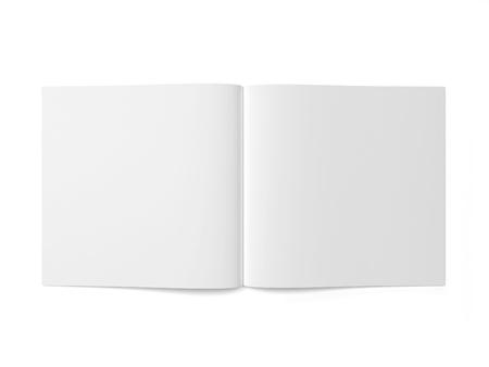 open magazine: Open magazine or brochure. 3d illustration isolated on white background