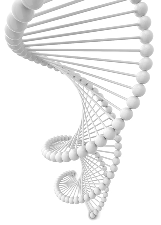 Dna spiral. 3d illustration isolated on white background Banco de Imagens