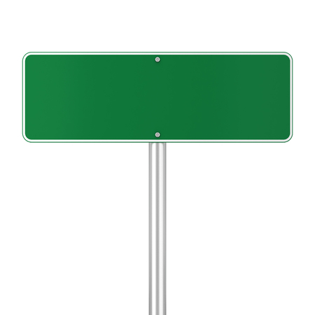 adboard: Road sign. 3d illustration isolated on white background Stock Photo