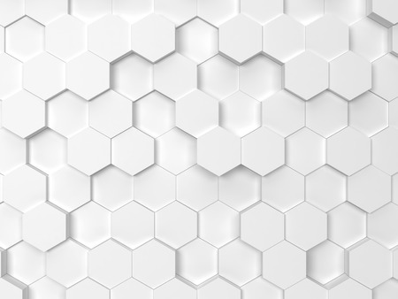 Hexagonal background. 3d background Imagens