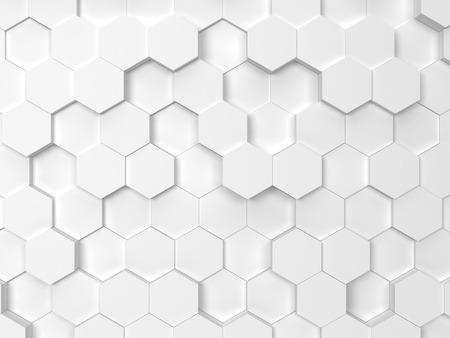 Hexagonal background. 3d background Archivio Fotografico