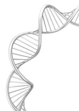 Dna spiral. 3d illustration isolated on white background Stok Fotoğraf