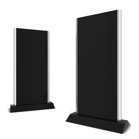 flat display panel: Two lcd displays. 3d illustration isolated on white background Stock Photo