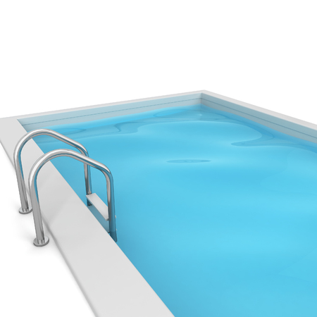 3d swimming pool: Swimming pool. 3d illustration isolated on white background Stock Photo