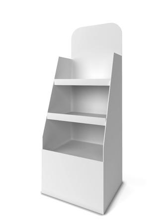 Productweergave. 3D-afbeelding op een witte achtergrond