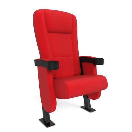 Cinema chair. 3d illustration isolated on white background