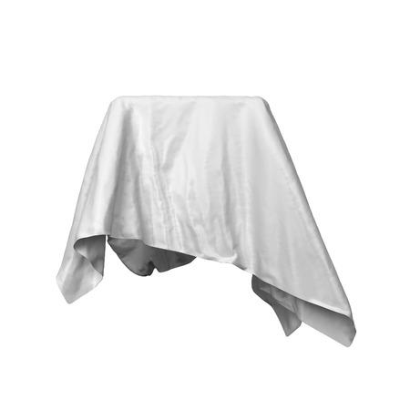 Elegant drapery. 3d illustration isolated on white background Stock Photo