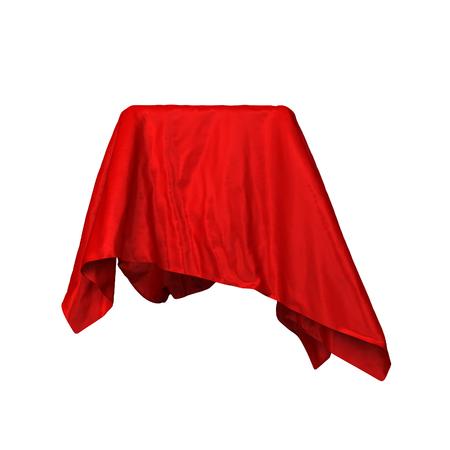 Elegant drapery. 3d illustratie geïsoleerd op een witte achtergrond