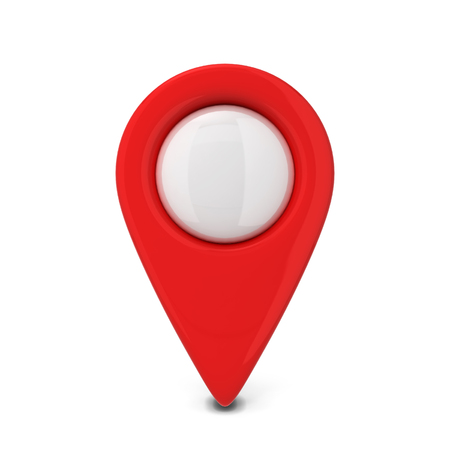 icons site search: Map pointer. 3d illustration isolated on white background