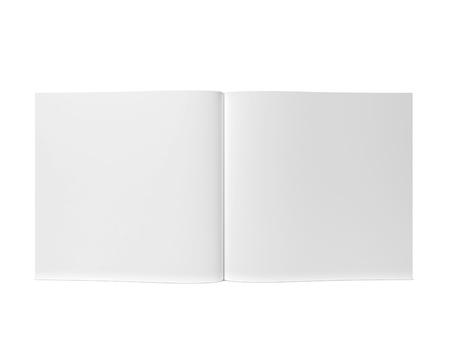 열기 잡지 나 브로셔. 흰색 배경에 고립 된 3d 그림