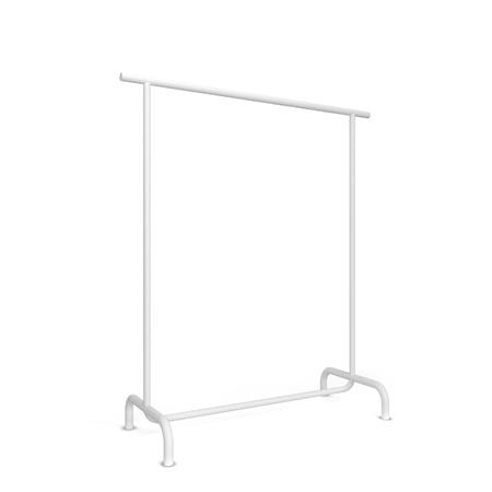 Clothing rack. 3d illustration isolated on white background