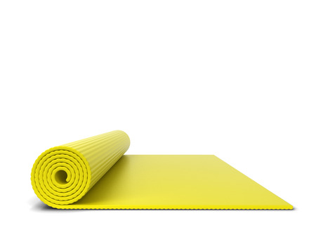 Yoga mat. 3d illustration isolated on white background